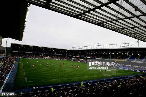 A general view of Goodison Park during the Barclays Premiership match between Everton and Middlesbrough at Goodison Park on November 6 2005 in...