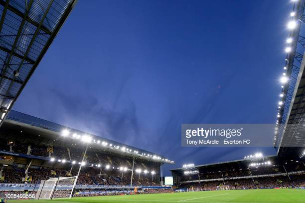 A general view of Goodison Park during the Carabao Cup second round match between Everton and Rotherham United at Goodison Park on August 29 2018 in...