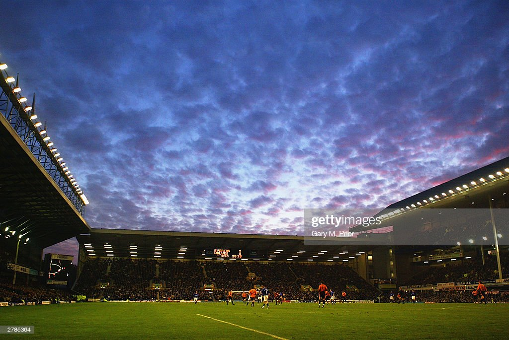 A general view of Goodison Park : ニュース写真