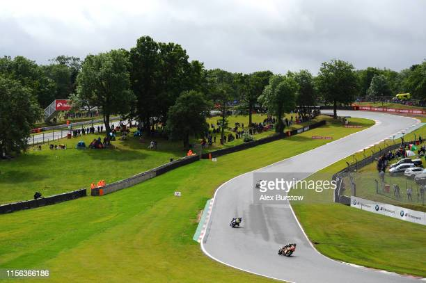 General view of Graham Hill Bend during the Pirelli National Superstock 1000 Championship race at Brands Hatch on June 16 2019 in Longfield England