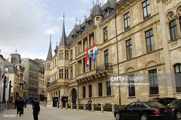 General view of Gran Ducal Palace during the wedding of Prince Guillaume Of Luxembourg and Stephanie de Lannoy at the Hotel De Ville on October 19,...