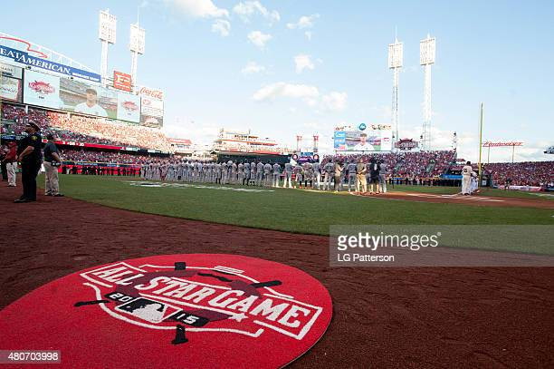 A general view of Great American Ball Park during the opening ceremony of the 86th MLB AllStar Game in Cincinnati on Tuesday July 14 2015 in...