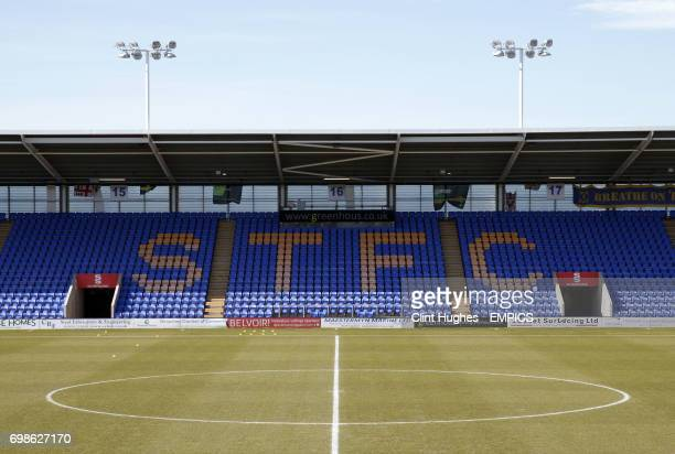 General view of Greenhous Meadow home of Shrewsbury Town FC.