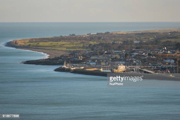 A general view of Greystones Harbour developpment area seen from the BrayGreystones cliff walk On Thursday February 15 Dublin Ireland