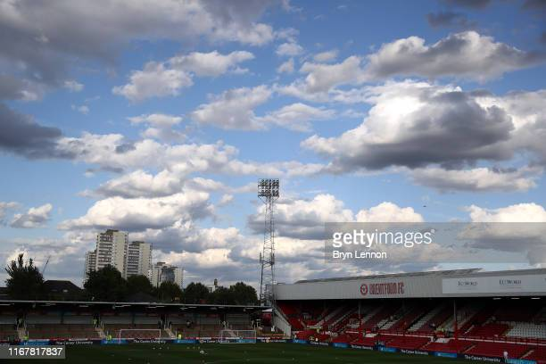 A general view of Griffin Park ahead of the Carabao Cup First Round match between Brentford and Cambridge United at Griffin Park on August 13 2019 in...