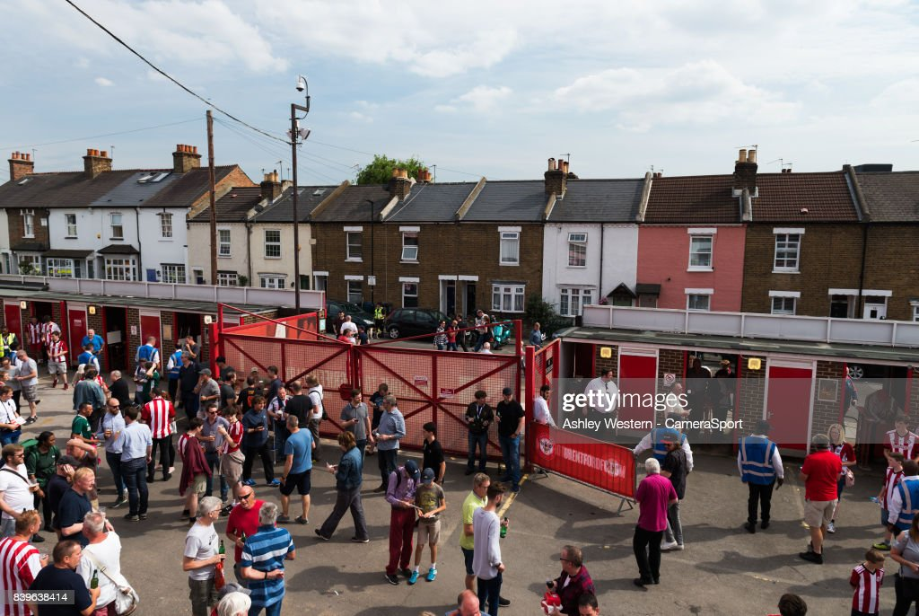 A general view of Griffin Park, home of Brentford FC before the Sky Bet Championship match against Wolverhampton Wanderers on August 26, 2017 in Brentford, England.