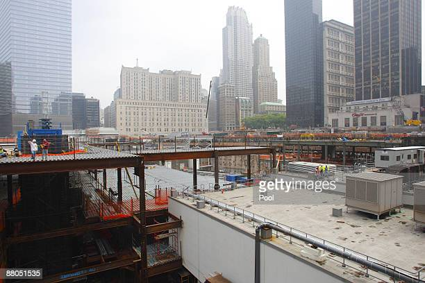 A general view of Ground Zero the day when HRH Prince Harry paid his respects at the site of the former World Trade Center on May 29 2009 in New York...