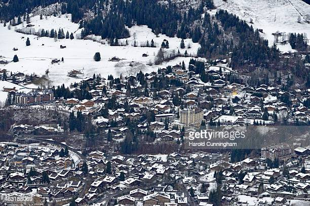 General view of Gstaad on January 16, 2014 in Gstaad, Switzerland.