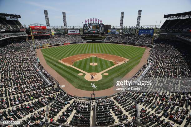A general view of Guaranteed Rate Field as the Chicago White Sox take on the San Diego Padres on May 14 2017 in Chicago Illinois