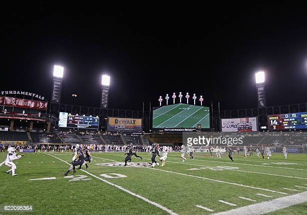 A general view of Guaranteed Rate Field home of the Chicago White Sox as the Northern Illinois Huskies take on the Toledo Rockets on November 9 2016...