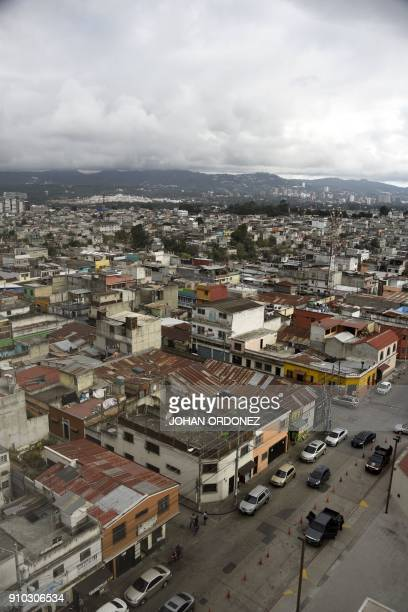 General view of Guatemala City on January 25 2018 / AFP PHOTO / JOHAN ORDONEZ