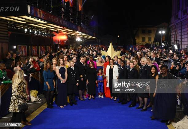 A general view of guests as they attend the Captain Marvel European Gala Premiere held at The Curzon Mayfair on February 27 2019 in London England