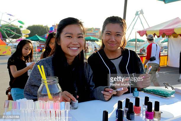 General view of guests at the CND booth as Actress & Philanthropist Kieu-Chinh, CND Co-Founder & Style Director Jan Arnold, and Actress &...