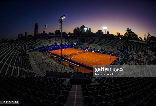 General view of Guillermo Vilas court during a match between Miomir Kecmanovic of Serbia and Laslo Djere of Serbia. Due to the COIVD-19 restrictions,...