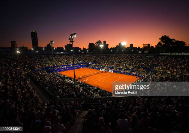 General view of Guillermo Vilas Court during a match between Pablo Cuevas of Uruguay and Diego Schwartzman of Argentina during day 5 of ATP Buenos...