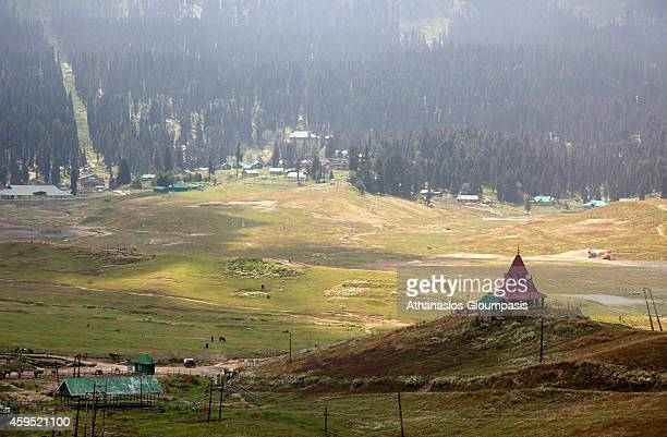 General view of Gulmarg on August 09 2009 in Gulmarg in the Baramula district of Jammu And Kashmir IndiaLocated to the west of Srinagar the summer...