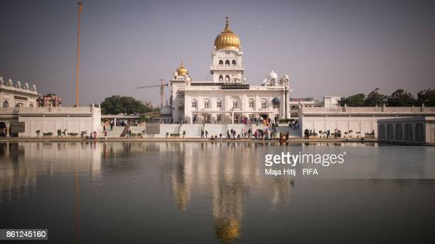 General view of Gurdwara Bangla Sahib ahead of the FIFA U17 World Cup India 2017 tournament at on October 14 2017 in New Delhi India