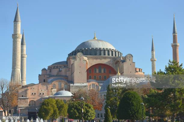 A general view of Hagia Sophia museum a former Greek Orthodox Christian patriarchal basilica On Tuesday 17 October 2017 in Istanbul Turkey