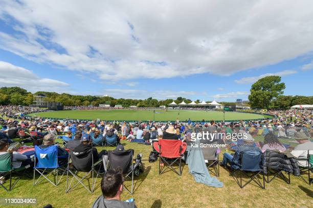 General view of Hagley Oval during Game 2 of the One Day International series between New Zealand and Bangladesh at Hagley Oval on February 16 2019...