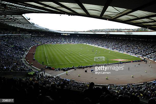 General view of Hampden Park taken during the UEFA European Championships 2004 Group 5 Qualifying match between Scotland and Germany held on June 7...