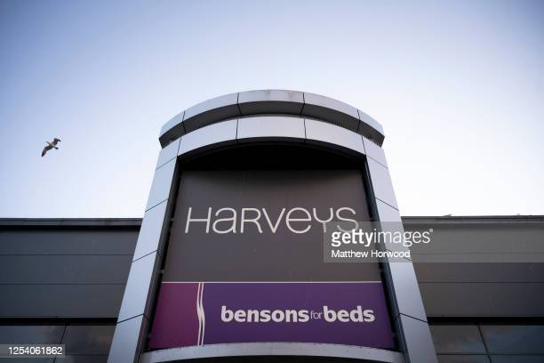 General view of Harveys furniture store at Cardiff Gate on July 02, 2020 in Cardiff, United Kingdom. Many UK businesses are announcing job losses due...
