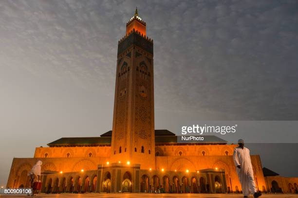 A general view of Hassan II mosque in Casablanca hours only from the start of Eid Al Fitr celebrations The holy feast of Eid Al Fitr in Morocco will...