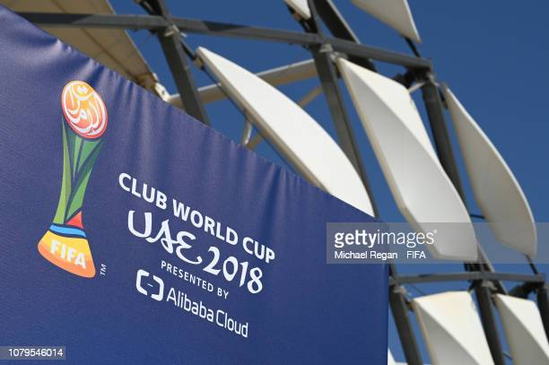 A general view of Hazza bin Zayed Stadium ahead of the FIFA Club World Cup UAE 2018 on December 09 2018 in Al Ain United Arab Emirates