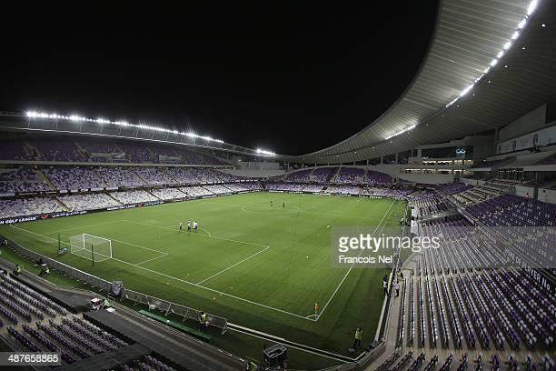 A general view of Hazza bin Zayed Stadium prior to the start of the Arabian Gulf League match between Al Ain Football Club and Al Jazira Football...