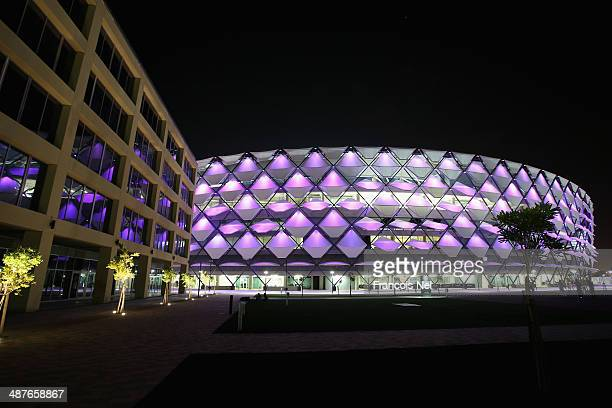 A general view of Hazza bin Zayed Stadium prior to the start of the Arabian Gulf League match between Al Ain Football Club and Al Jazira Football...