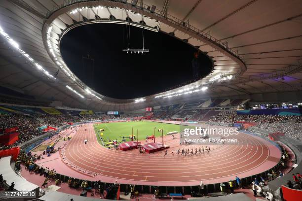 General view of Heat 1 during the Men's 5000 metres heats during day one of 17th IAAF World Athletics Championships Doha 2019 at Khalifa...