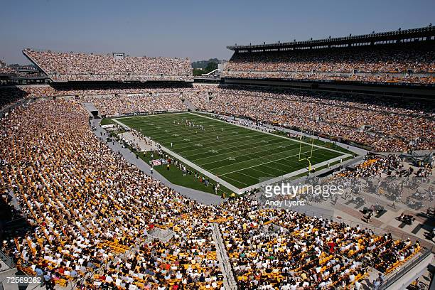 General view of Heinz Field during the game between the Pittsburgh Steelers and the Oakland Raiders on September 12 2004 in Pittsburgh Pennsylvania...