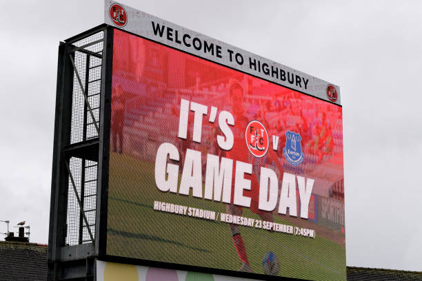 GBR: Fleetwood Town v Everton - Carabao Cup Third Round