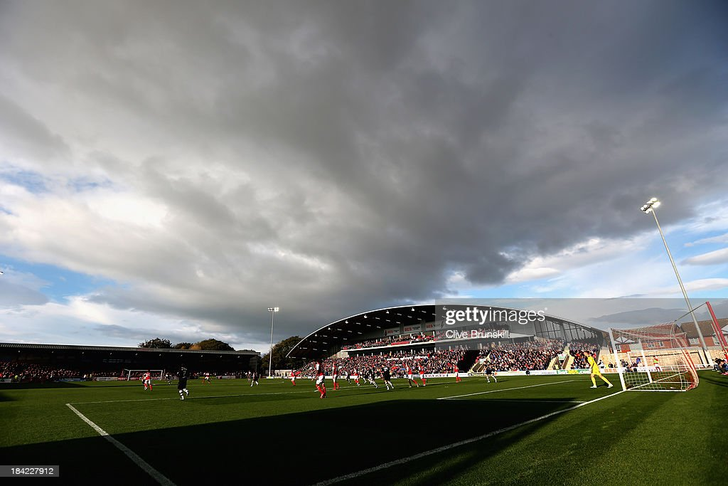 A general view of Highbury stadium home of Fleetwood Town FC during the Sky Bet League Two match between Fleetwood Town and Chesterfield at Highbury Stadium on October 12, 2013 in Fleetwood, England,