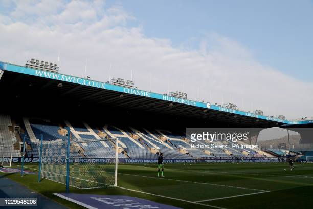 General view of Hillsborough football Stadium before the Sky Bet Championship match at Hillsborough Stadium, Sheffield.