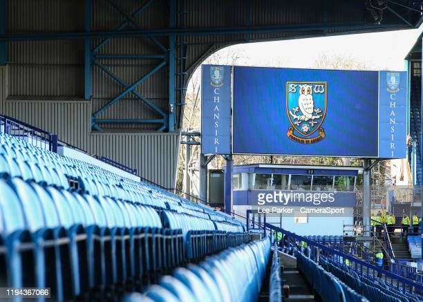 A general view of Hillsborough home of Sheffield Wednesday during the Sky Bet Championship match between Sheffield Wednesday and Blackburn Rovers at...
