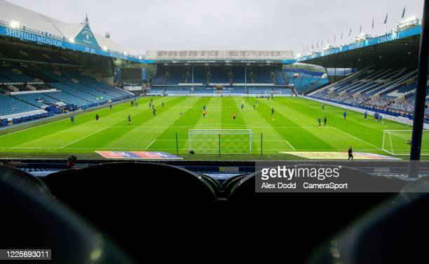 A general view of Hillsborough home of Sheffield Wednesday during the Sky Bet Championship match between Sheffield Wednesday and Preston North End at...