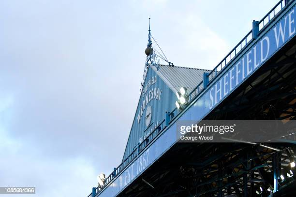 General View of Hillsborough prior to the Sky Bet Championship match between Sheffield Wednesday and Preston North End at Hillsborough Stadium on...