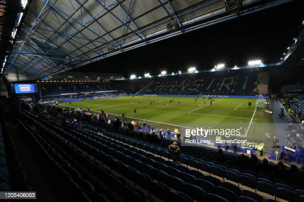 General view of Hillsborough Stadium, home of Sheffield Wednesday Football Club during the FA Cup Fifth Round match between Sheffield Wednesday and...