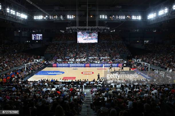 General View of Hisense Arena during the round six NBL match between Melbourne United and the Sydney Kings at Hisense Arena on November 11 2017 in...