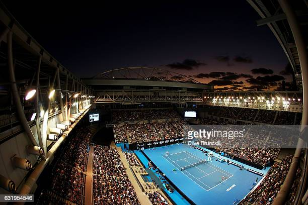 General view of Hisense Arena during the second round match between Nick Kyrgios of Australia and Andreas Seppi of Italy on day three of the 2017...