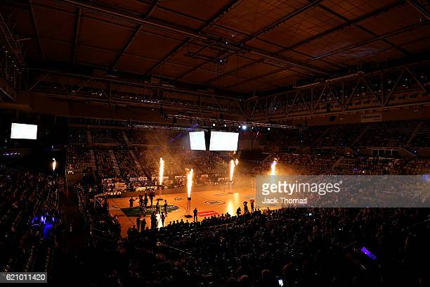 A general view of Hisense Arena prior to the round five NBL match between Melbourne United and the New Zealand Breakers on November 4 2016 in...
