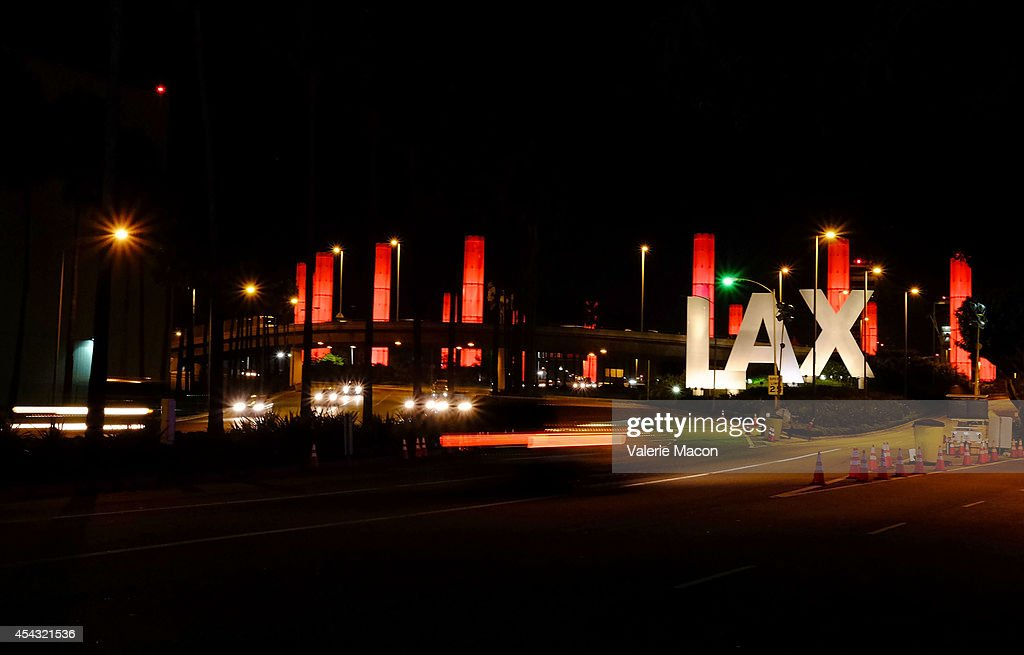 General View Of Historic Landmarks At Los Angeles Airport In Los
