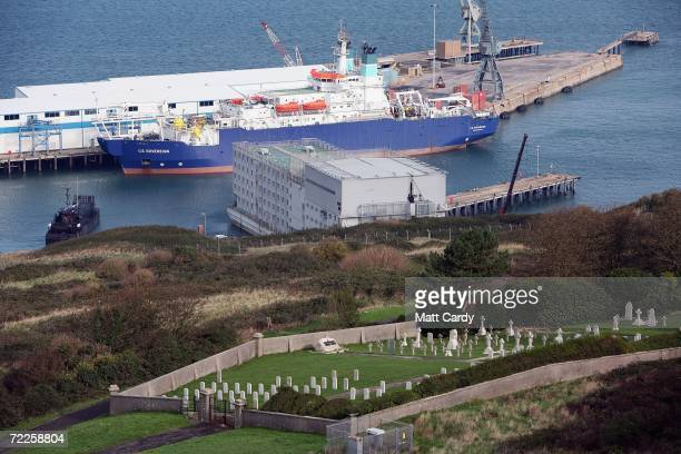 General view of HMP Weare is seen on October 24 2006 in Portland, near Weymouth England. The floating prison, now closed, was the only one in the UK...