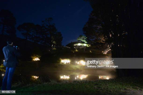 General view of Hobbiton the film set for the Hobbit and Lord of the Rings near Hamilton New Zealand PRESS ASSOCIATION Photo Picture date Thursday...