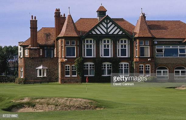General view of hole 18 and the clubhouse taken during a photo call held in 2000 at the Royal Lytham and St Anne's Golf Club in Lytham England