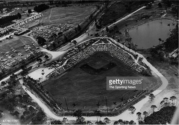 General view of Holman Stadium, spring training home to the Brooklyn and Los Angeles from 1953-2008, circa 1954 in Vero Beach, Florida.