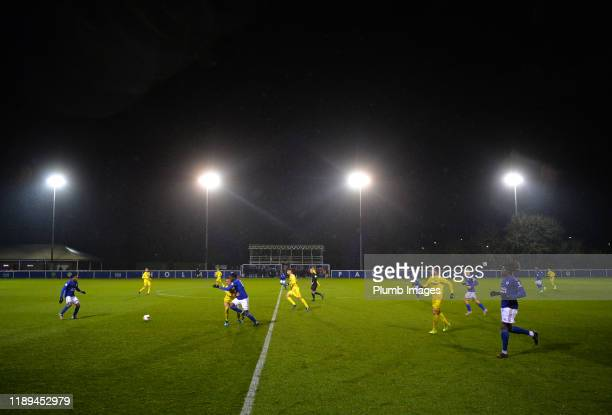 A general view of Holmes Park during the Leicester City U23 v Villarreal B PL International Cup at Holmes Park on December 18th 2019 in Leicester...