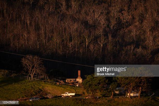 A general view of home and bushland destroyed by bushfire outside the small town of Cobargo on May 10 2020 in Cobargo Australia The small town of...
