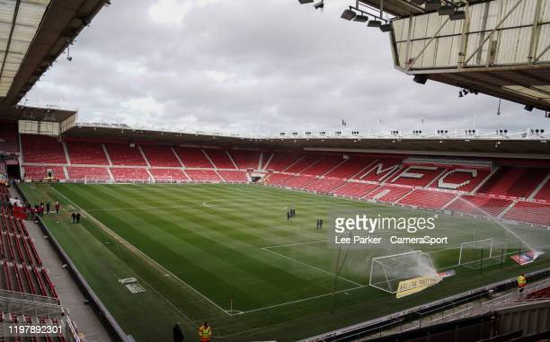 General view of home of Deepdale the home of Preston North End during the Sky Bet Championship match between Middlesbrough and Blackburn Rovers at...