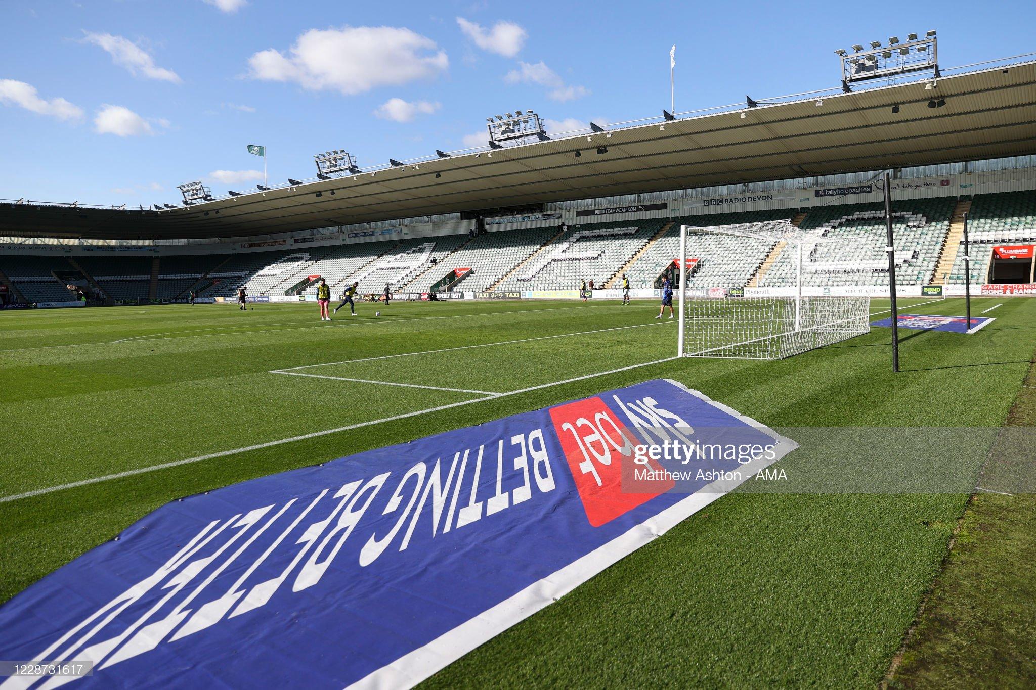 Plymouth Argyle v Shrewsbury Town - Sky Bet League One : News Photo